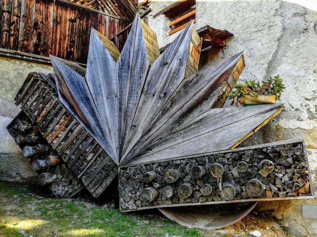 Wood stack installation