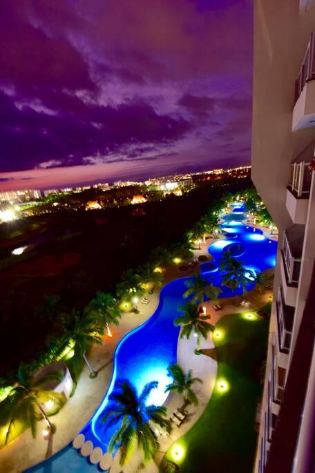 Pool night view