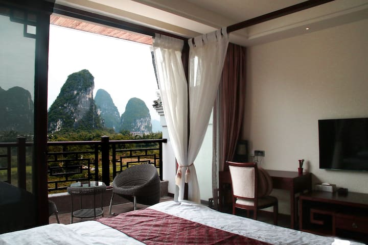 Double Room with Terrace - Guilin - Bed & Breakfast