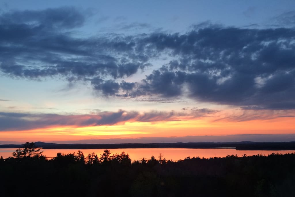 Dramatic sunsets over Blue Hill Bay