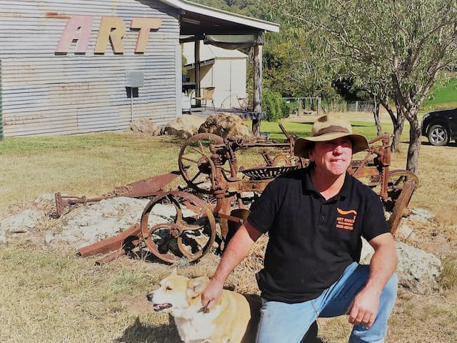 Rodney loves his old farm machinery and collection of 1950's and 1960's Holden cars and utes.