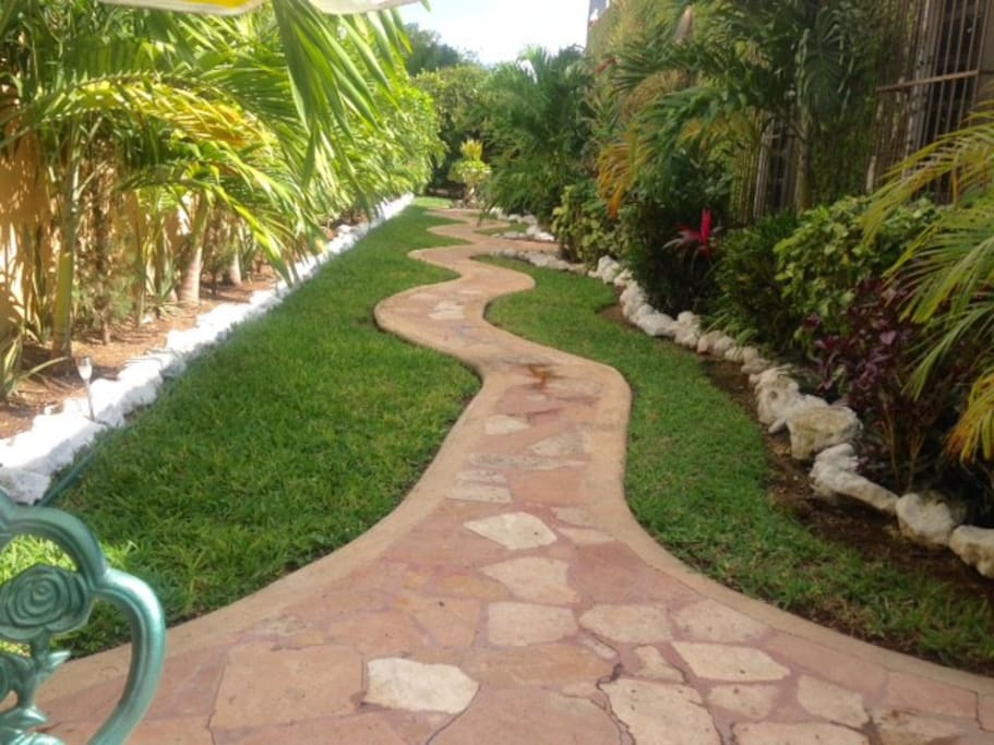 Walking path, from the entrance to TEQUILITA Apartment.