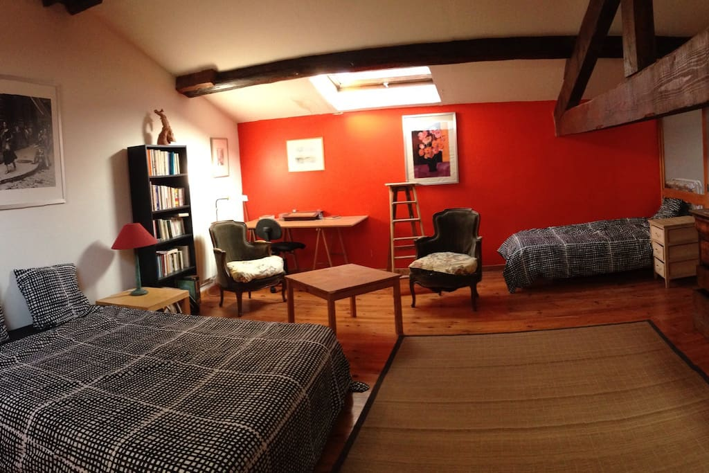 Chambre spacieuse 4 personnes chambres d 39 h tes louer - Hotel lyon chambre 4 personnes ...