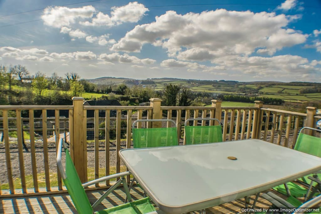 Private Decking with stunning views