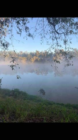 Misty mornings on the Fitzroy river . Great place for a morning coffee.