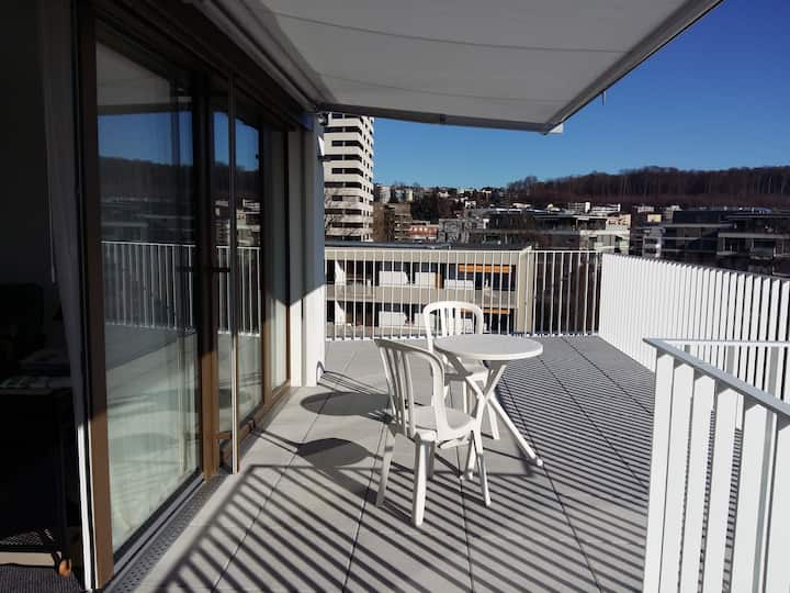 Luxury Penthouse studio 30m2 ☆ Terrace&Parking&LTC