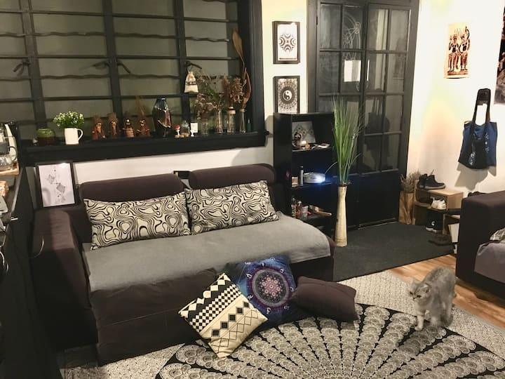 【有点儿意思】60平上海老房子 出租一张沙发床/地铁2.12.13号线/南京西/尚演谷/梅龙镇广场