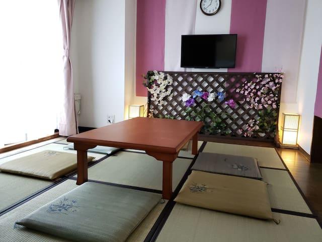 【6名様まで宿泊可能】成田空港から京成線直通♦︎洗濯機キッチン完備のレジデンスホテル