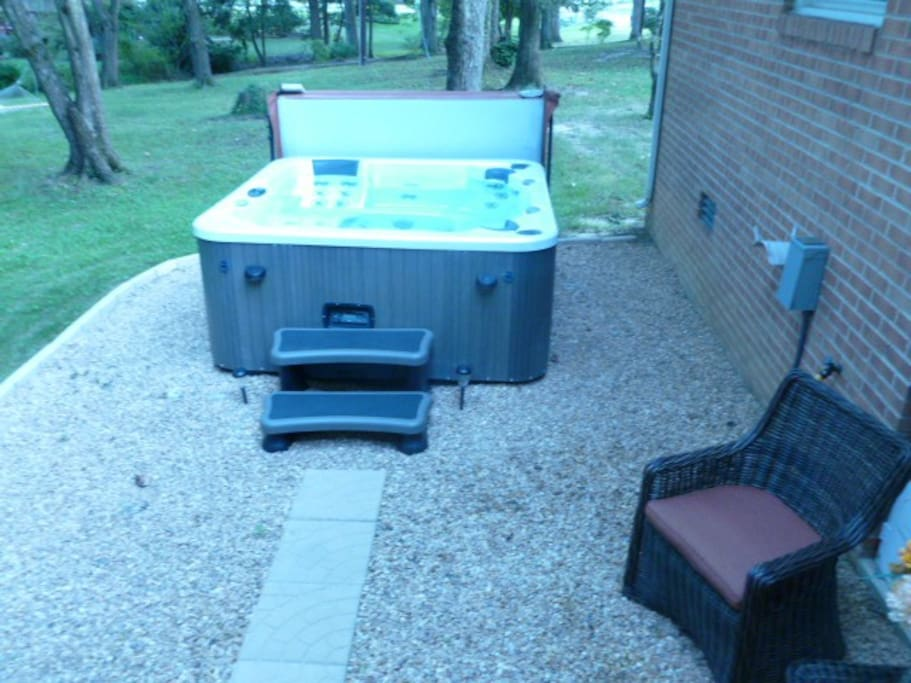 Sanitized Hot Tub