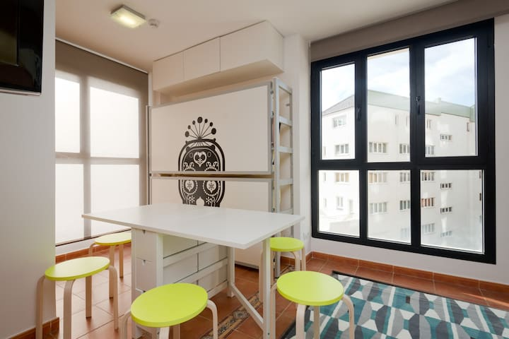 Apartamento luminoso y bien situado
