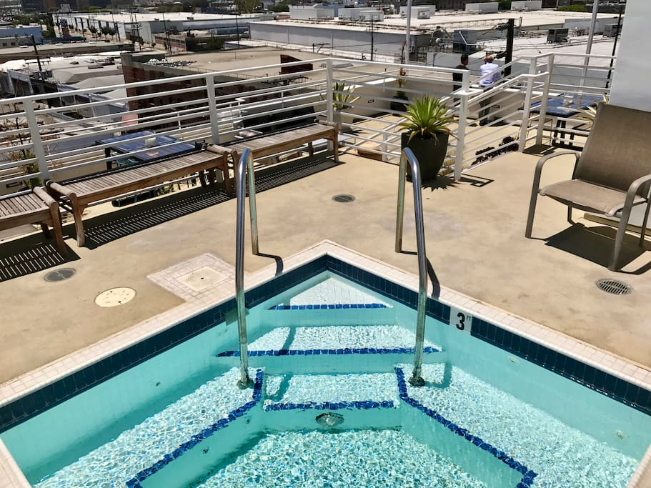 What could be better than lounging in the Jacuzzi on the rooftop?