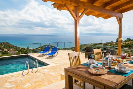Fantastic Villa with private pool & stunning views - Poros - 別墅