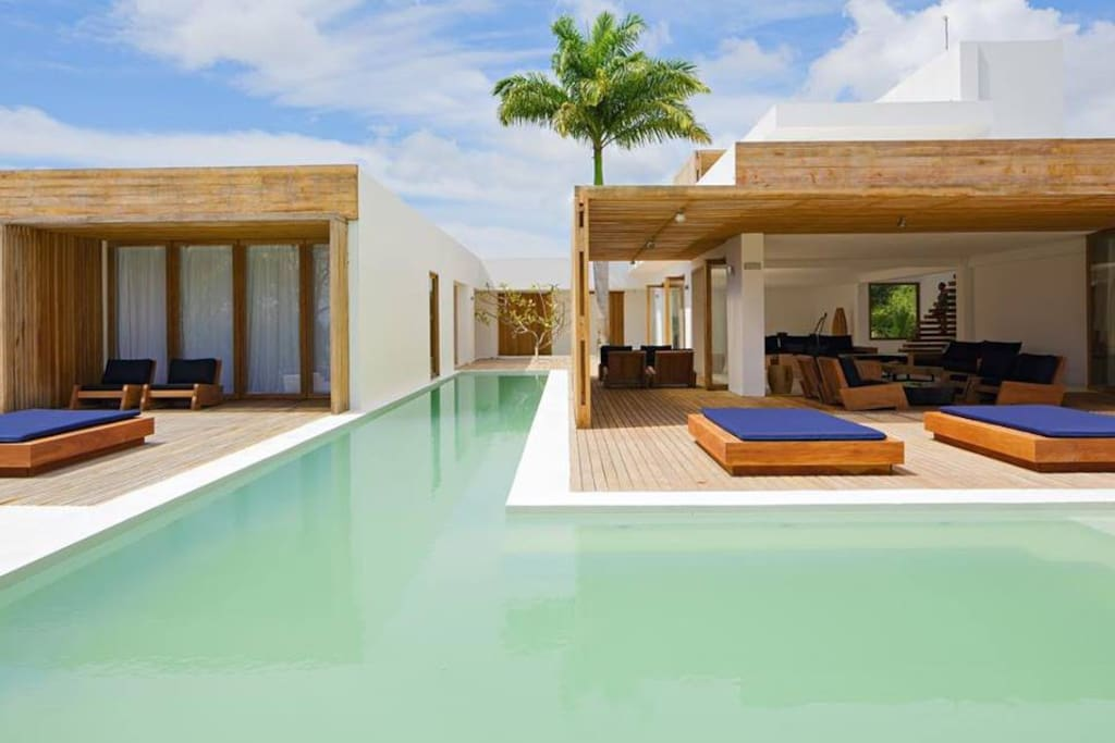 FEATURES & INCLUDES    •    Beach towels   •    Beachfront   •    Garden   •    Near village of Barra Grande - by car 15min or 10 min by hotel own boat or jet ski   •    Internet   •    Massage bed   •    Mini bar   •    Outdoor pool   •    Parking   •    Private beach   •    Private boat   •    Stand up paddleboards (SUP)   •    Yoga mats