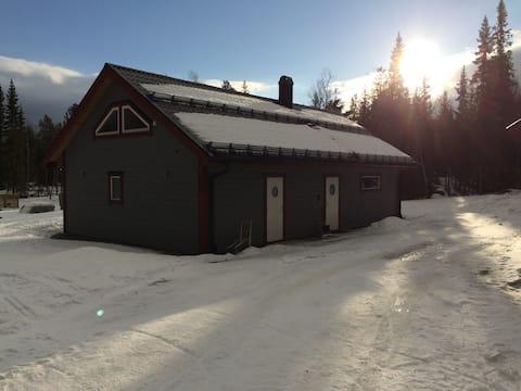 Modernt hus i fjällmiljö, Ljusnedal