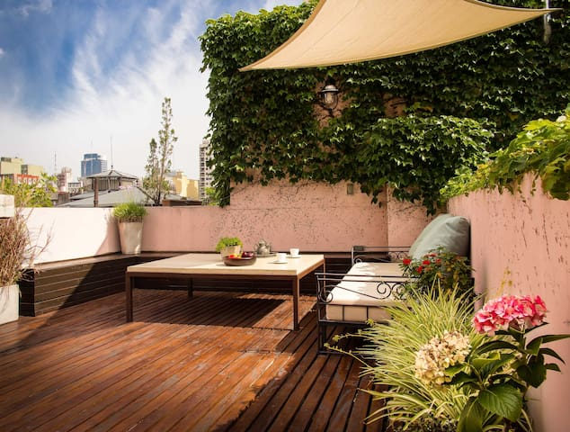 ::Private Terrace-Big bright studio-Top Location:: - Buenos Aires
