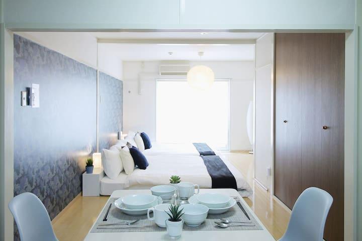 一臥室公寓靠近Peace Park 305,可供4人入住
