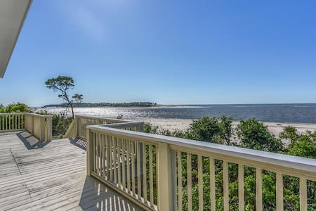 Gulf Front, Old Florida, View of St Vincent's Island, Near Boat Landing ~ Island Idyl