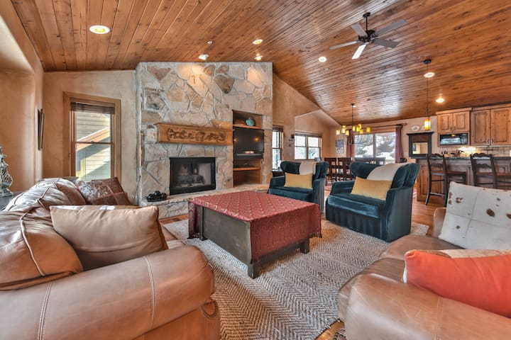 Main Level Great Room - Living Room, Kitchen and Dining Area with Hardwood Floors Throughout