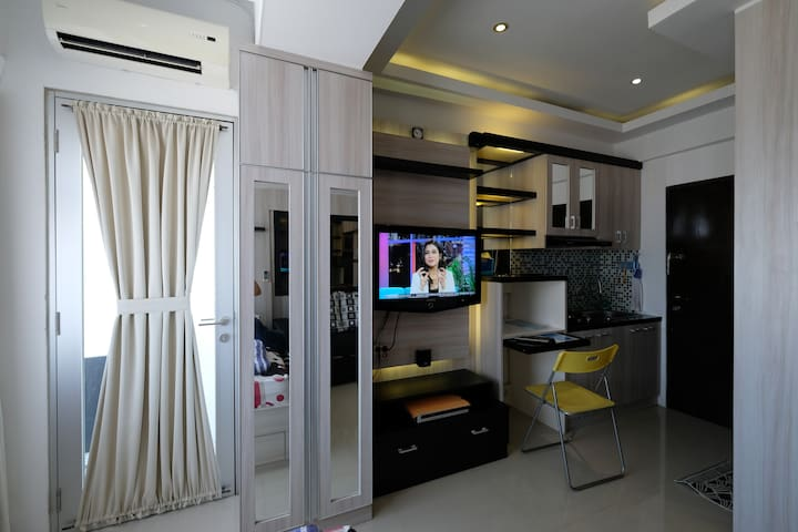 Homy studio (23rd floor) @THE JARRDIN Apartment