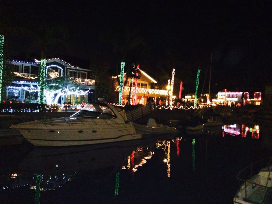 Christmas Island! Every home on the canal is decorated in December until early January