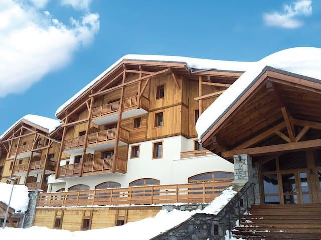 Appartement Abordable à 100m des Pistes | Accès piscine + Sauna!