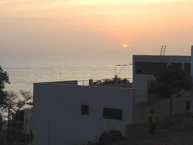 Assaman, Maison spacieuse avec vue sur mer - Toubab Dialao