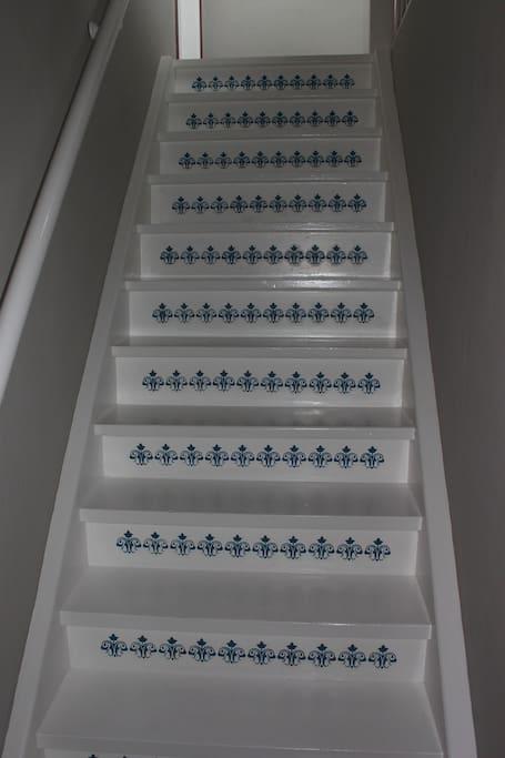 Treppe zu Zimmer Nr. 4