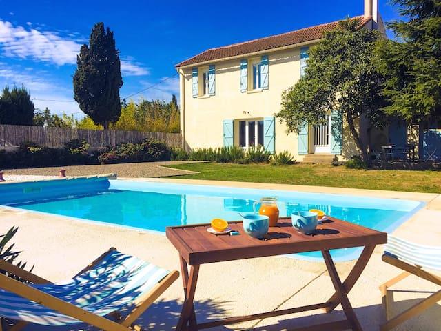 Jolie maison campagne piscine domaine privé 8 pers - Lézignan-Corbières - 獨棟