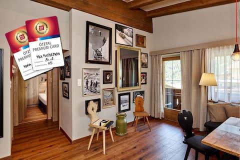 Design studio for 2 (wifi, sauna, slope access)