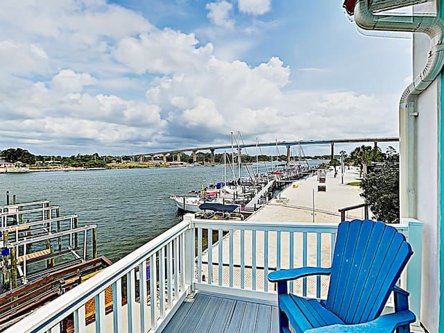 Greet the day with views of the Intracoastal Waterway on the master balcony.