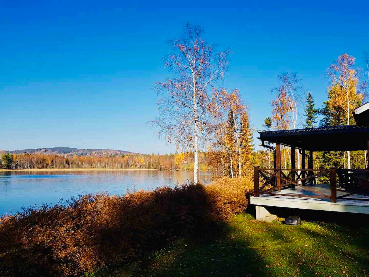 Swedish autumn at its best, cold but colourful.