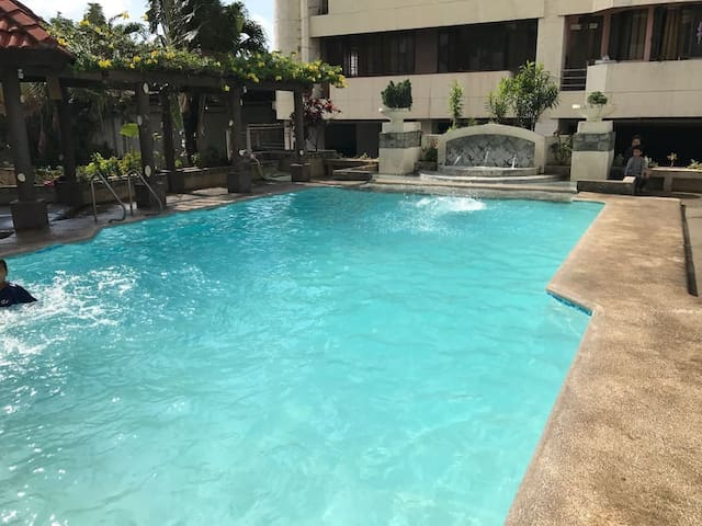 Swimming pool is an extra service for Php 100 managed by building admin