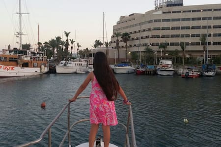 boat in the most beautiful place - eilat,israel - Boat