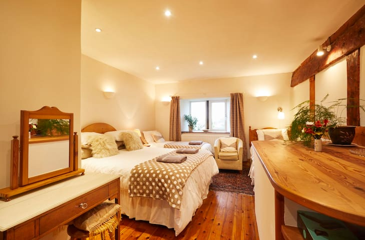 Bedroom 3 - Barn Large Family Room with en-suite shower room, having a King Sized Bed, single and pull out single bed