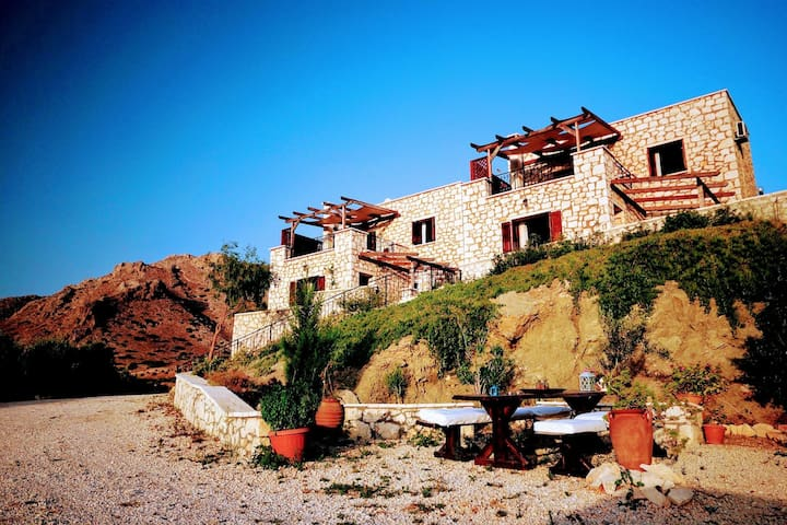 Traditional stone houses with the panoramic sea view on the South East coast