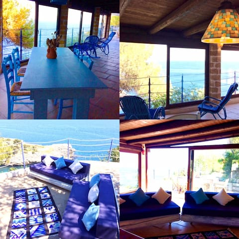 4 PICTURES OF THE VILLA ON THE SEA