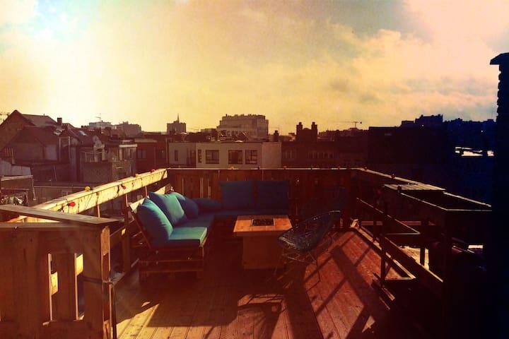 Appartement met dakterras in hartje Antwerpen - Antwerpia - Apartament