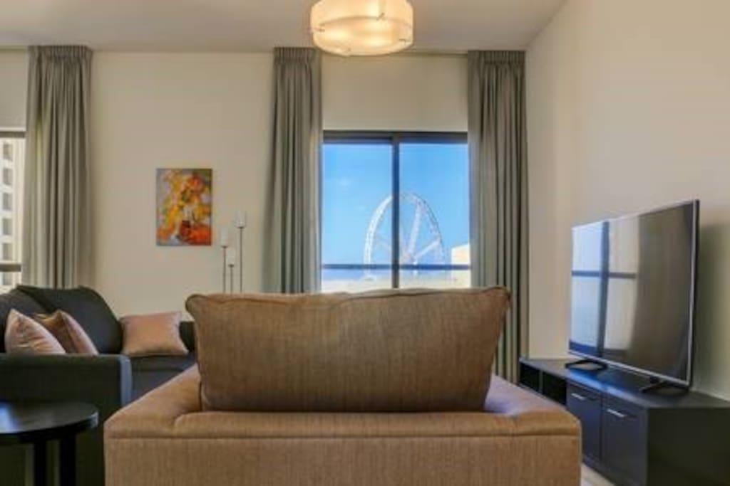 Lounging with Dubai Eye View