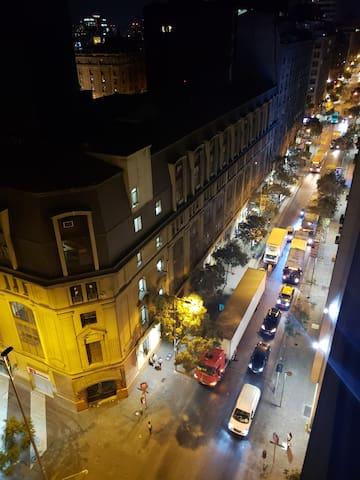 Vive el centro histórico de Santiago.