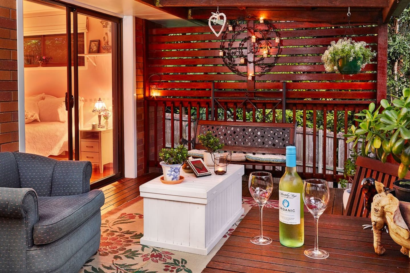 A lovely deck to enjoy a glass of wine