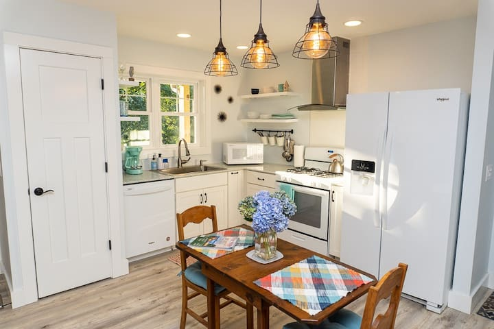 The full kitchen with updated appliances allows you to cook up a storm if you choose, or at least store all your delicious leftovers from the area's many fabulous restaurants. We strive to think of everything so that you don't have to.