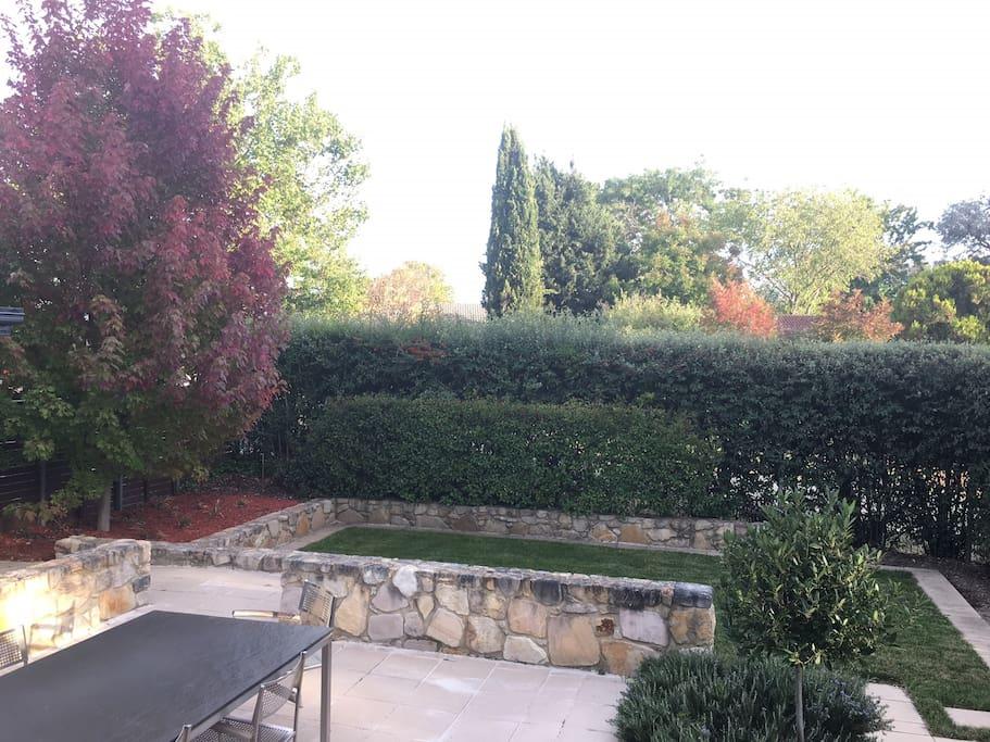 Beautiful garden outlook