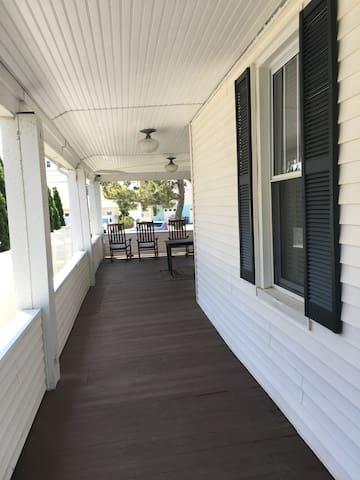 Three sided wrap around porch
