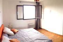 Chambre avec lit double en 160x200 ou 2 lits simples, et vue magnifique