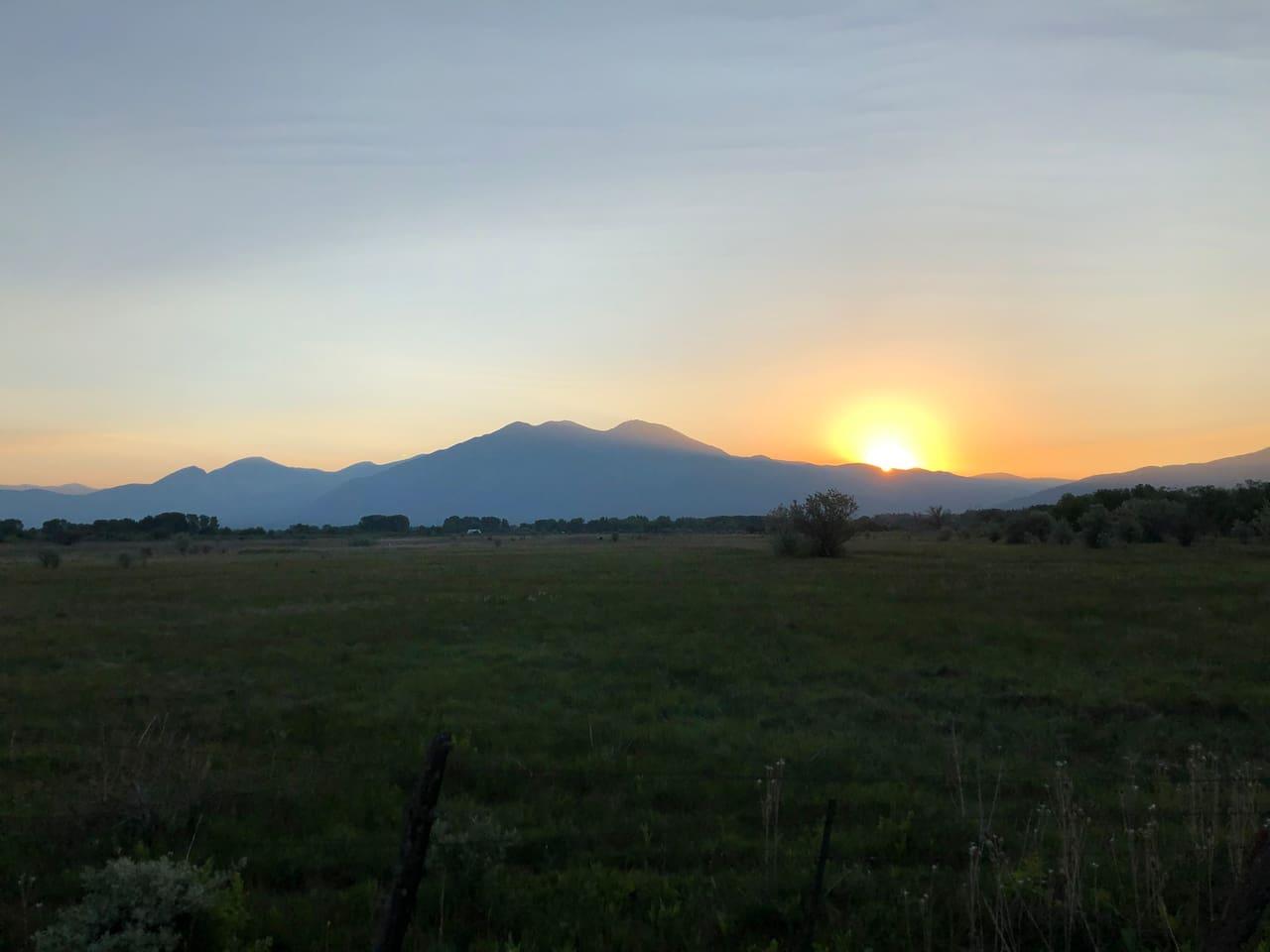 Taos Mountain Sunrise from Hacienda Rio Pueblo - Begin Again