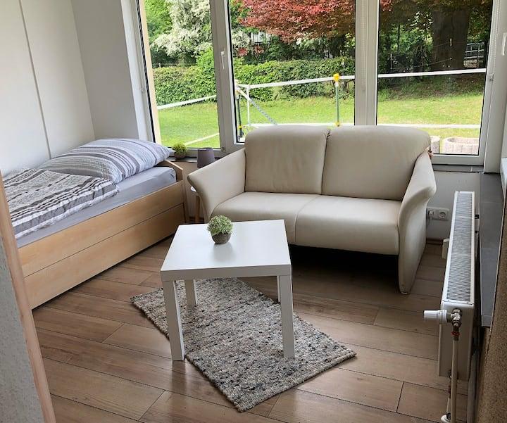 Gemütliches Apartment mit Gartenblick
