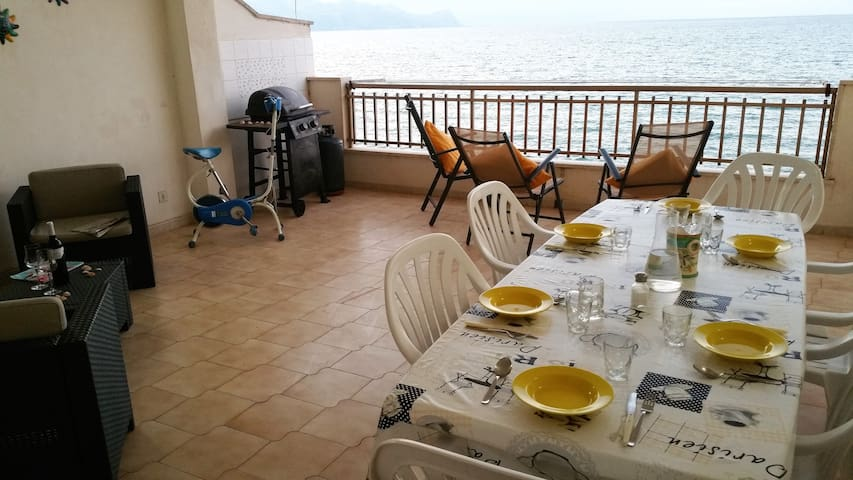 great view of the beach of the Gulf - Castellammare del Golfo - Appartement