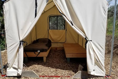 """Junipers Rest""  Tent Cabin"