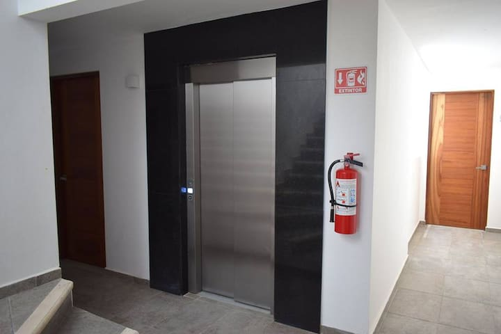 Elevator access included