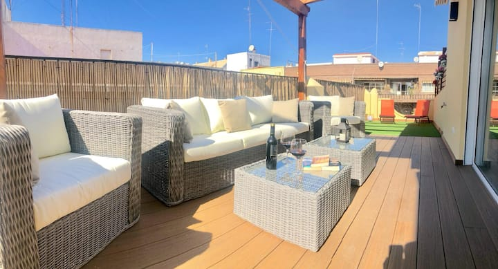 LOVELY PENTHOUSE with terrace - ÁTICO CON TERRAZA